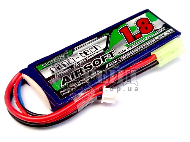 Аккумуляторная батарея Turnigy NANO-TECH LiPo 7.4V 1800mAh 25-50c