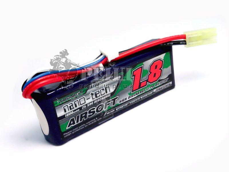 Аккумуляторная батарея Turnigy NANO-TECH LiPo 11.1V 1800mAh 25-50c