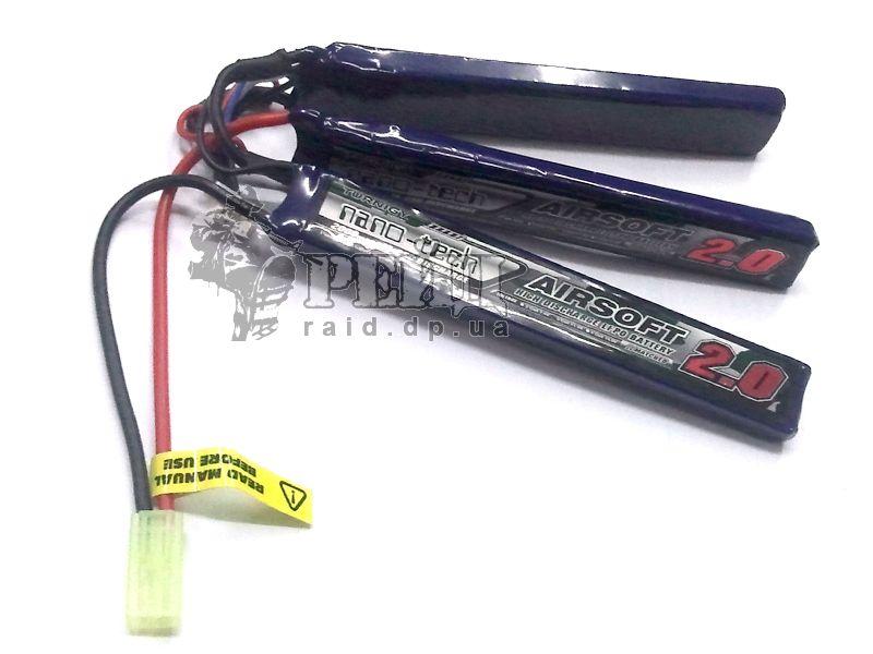 Аккумуляторная батарея Turnigy NANO-TECH LiPo 11.1V 2000mAh 15-25c (3 пластины):