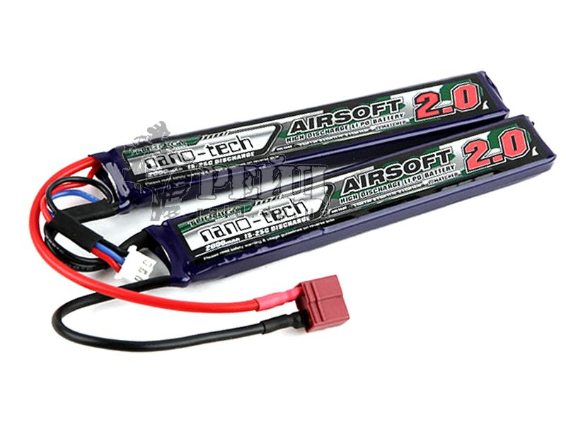 Аккумуляторная батарея Turnigy NANO-TECH LiPo 7.4V 2000mAh 15-25c T-коннектор (2 пластины):