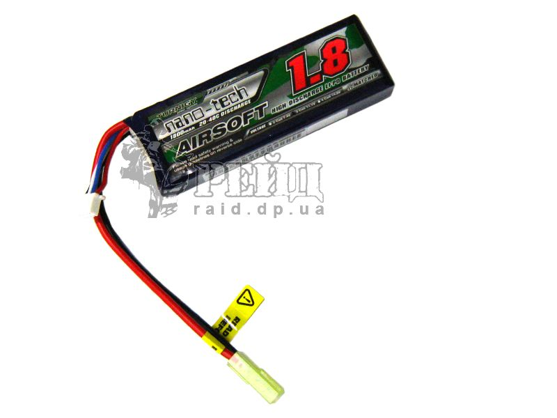 Аккумуляторная батарея Turnigy NANO-TECH LiPo 11.1V 1800mAh 20-40c