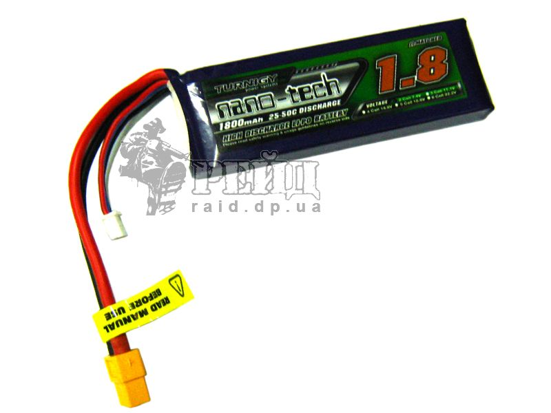 Аккумуляторная батарея Turnigy NANO-TECH LiPo 7.4V 1800mah 25~50C: