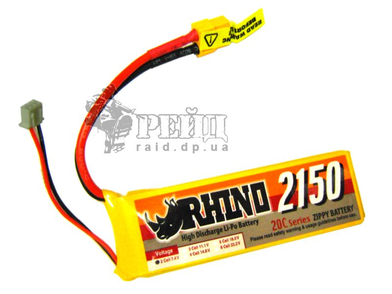 Аккумуляторная батарея Rhino LiPo 7.4V 2150mAh 20C~30С: